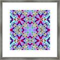 Abstract Seamless Pattern  - Blue Pink Purple Red Green Brown White Framed Print