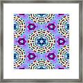 Abstract Seamless Pattern  - Blue Purple Pink Violet Lilac Orange Green Framed Print