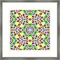 Abstract Seamless Pattern  - Yellow Brown Gray Purple Green Framed Print