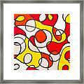Abstract Swirls Framed Print