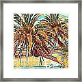 Abstracted Loop Palms Framed Print