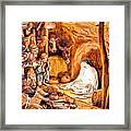 Adoration Of The Shepherds Nativity Framed Print