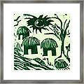 African Huts Framed Print by Caroline Street