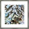 Air Bubbles Underwater - Abstract Framed Print