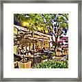 Al Fresco Dining Framed Print by Chuck Staley