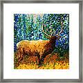 Alaskan Elk Original Madart Painting Framed Print