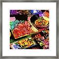 Alien Food Delicacies Framed Print