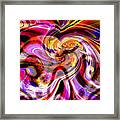 Alien Mind On Fire. Framed Print