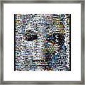 Alien Ufo Mosaic Framed Print