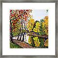 Along The Blanchard Framed Print