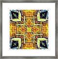 Altar Cross Tapestry Framed Print