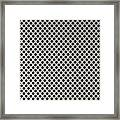 Aluminum Hole Texture Silver Metal Circle Steel Framed Print