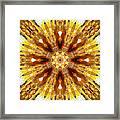 Amber Sun. Digital Art 3 Framed Print