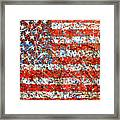 American Flag Abstract 2 With Trees  Framed Print