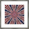 American Flag Kaleidoscope Abstract 6 Framed Print
