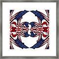 American Flag Polar Coordinate Abstract 1 Framed Print