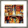 Amsterdam - Little Bridge Framed Print