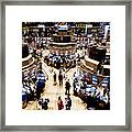 An High Angle View Of The New York Framed Print by Justin Guariglia
