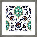 An Iznik Polychrome Tile, Turkey, Circa 1575, By Adam Asar, No 23h Framed Print
