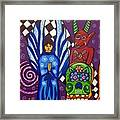 Angel And Devil-day Of The Dead Framed Print