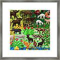 Animal Tapestry Framed Print
