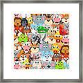 Animals Zoo Framed Print