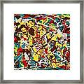 Animated Colours Framed Print
