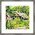 Anne Hathaways Cottage  Framed Print