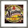 Apuaha Beer Sign Framed Print