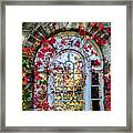 Arch And Red Vines Framed Print