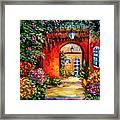 Archway Garden Framed Print