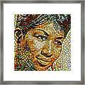 Aretha Franklin Tribute Mosaic Portrait 3 Framed Print