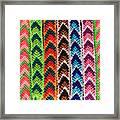 Arrow Pattern Woven Bracelets Framed Print