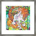 Art Nuevo Unicorn Framed Print by Jenn Cunningham