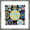 Art Of Diatom Algae (from Ernst Haeckel) Framed Print by Mehau Kulyk