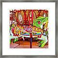 Artistically Textured Carousel Framed Print