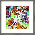 Artsy Nouveau Unicorn Framed Print by Jenn Cunningham