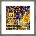 Asuncion Paraguay - Palette Knife Oil Painting On Canvas By Leonid Afremov Framed Print