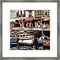 At The Cafe Framed Print