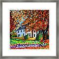 Autumn Farmhouse Framed Print