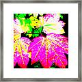 Autumn Leaves Holiday Style Framed Print