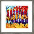 Autumn Riches Framed Print by Marion Rose