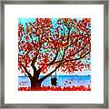 Together In Autumn  Framed Print