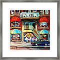 Avenue Du Parc Cafes Framed Print