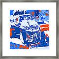 B-25 Blue Red  Framed Print