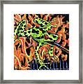 Bad Froggy In Hell Framed Print