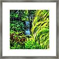 Bahamas - Tropical Waterfall Framed Print
