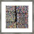 Bales Of Aluminum Cans Framed Print