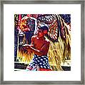 Bali Barong And Kris Dance  - Paint Framed Print