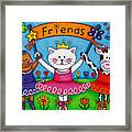 Ballerina Friends Framed Print